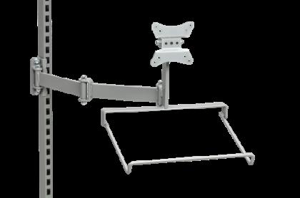 flatscreenfaste-tangentbordshallare ledbar arm 3-489-3