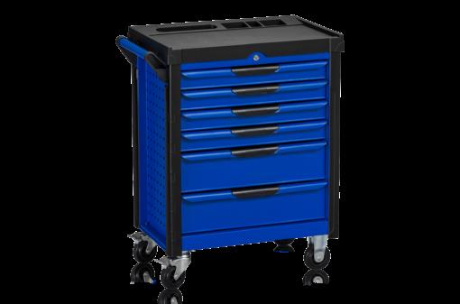 Verkstadshurts 6 lådor svart/blå