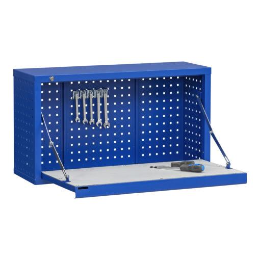 Perforerat verktygsskåp fällbar arbetsyta 4-760-1